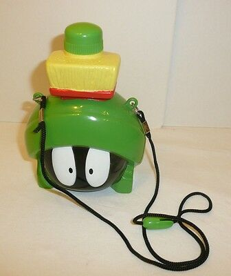 Marvin the Martian Head Canteen Water Bottle with Neck Strap Looney Tunes Alien