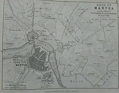 Siege of Mantua battle Map 1796 - Allison's AK Johnston military Pub1848 M2