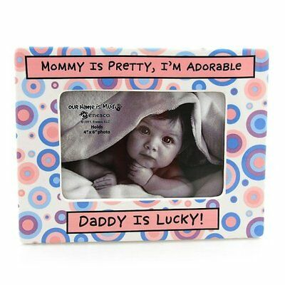 Enesco Baby Girl Our Name Is Mud Daddy Is Lucky Photo Frame 4029372