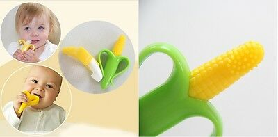 Baby Corn Bendable Teether Training Toothbrush Infant Babies Soft Gum Chew Toy