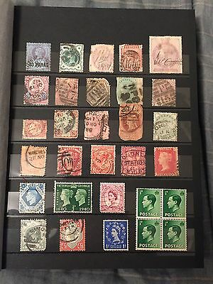 Mixed Lot 276 Great Britain-Uk Stamps Used-Unused 1841-1984 Some Rare-High Value