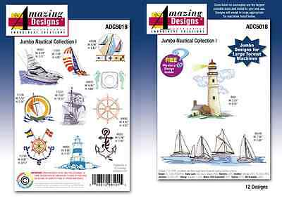 Ad 5000 - 5030 Jumbo Amazing Design Cd Embroidery Collection  Sets In Pes On Cd