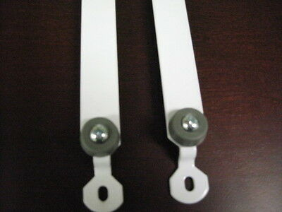 Baby Crib Hardware-Lower Metal Track(Pair) with Rubbers-Brown Color Only