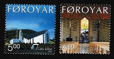 Faroe Is. Gota Church 2v SG#439/40 SC#424-25