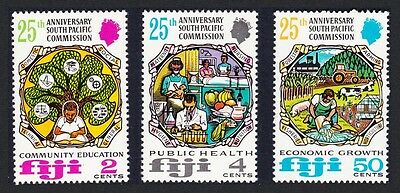 Fiji South Pacific Commission 25th Anniversary 3v SG#454/56 SC#324-326