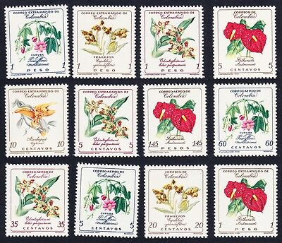 Colombia Orchids Flowers 12v SG#1011//21 SC#716-17+C360-C370