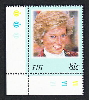 Fiji Diana Princess of Wales Commemoration 1v Corner with margins SG#1014 SC#819