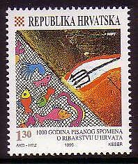 Croatia Millenary of First Reference to Fishing 1v SG#465