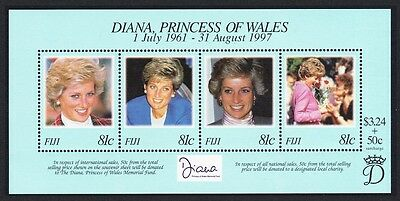 Fiji Diana Princess of Wales Commemoration MS SG#MS1015 SC#820