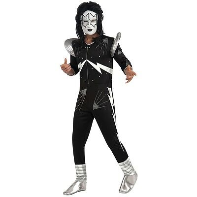 KISS The Spaceman Costume Adult 70s Rock Star Ace Frehley Halloween Fancy Dress