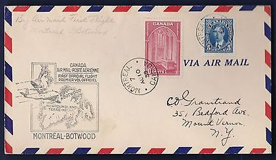Ffc Montreal Quebec To Botwood Nfld 1939 (K421)
