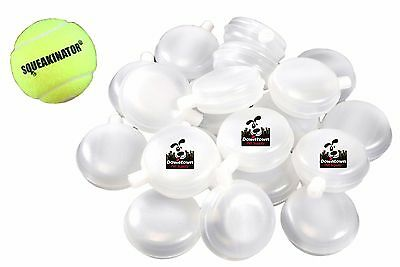 30 Pack Replacement Squeakers Small Medium Large FREE SQUEAKINATOR Tennis Ball
