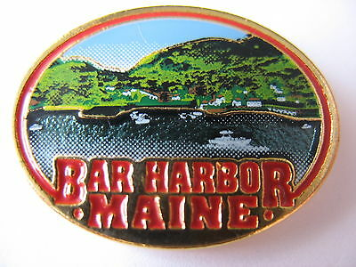 United States Town Lapel Pin - Bar Harbor - Maine