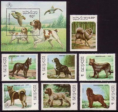 Laos Dogs 7v+MS SG#930/36+MS937