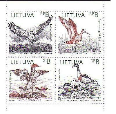 Lithuania Birds of the Baltic block of 4 booklet pane SG#506/09