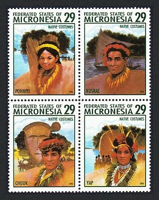 Micronesia Traditional Costumes Block of 4 SG#376/79 SC#193