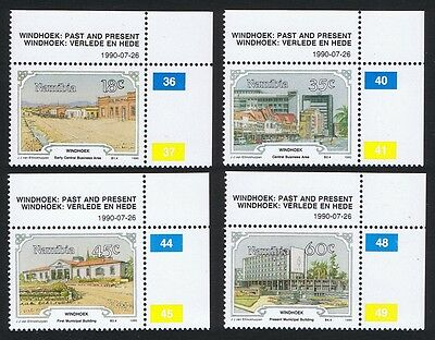 Namibia Centenary of Windhoek 4v Upper Right Corners with Control Numbers
