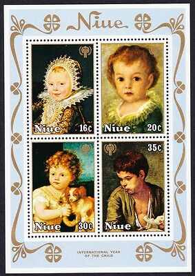 Niue Paintings International Year of the Child MS SG#MS282 SC#240a