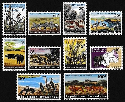 Rwanda Birds Wild Animals Kagera National Park 10v SG#98/107 SC#99-108