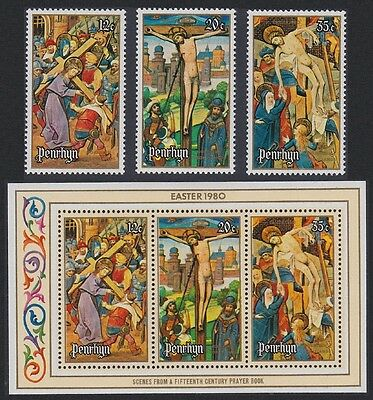 Penrhyn Easter 3v+MS issue 1980 SG#145/MS148 SC#114-16a