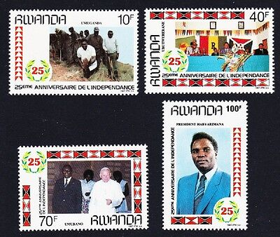 Rwanda 25th Anniversary of independence 4v SG#1293/96 SC#1283-86 CV£6.1