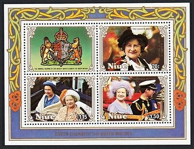 Niue Life & Times of Queen Mother MS 3v SG#MS627 SC#478a