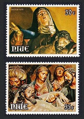 Niue Easter Paintings issue 1979 2v SG#274/75 SC#235-36