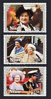 Niue Life & Times of Queen Mother 3v SG#587/89 SC#476-478