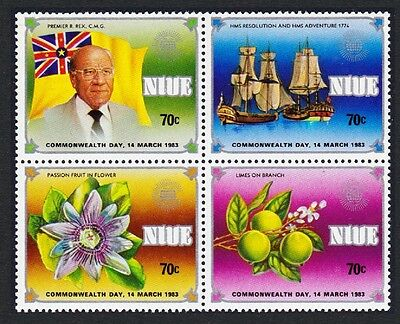 Niue Commonwealth Day Block of 4 SG#475/78 SC#368-371