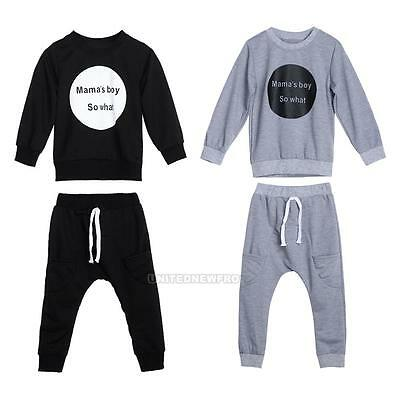 0-4Y Toddler Kids Boys Girls Long Sleeve Hoodie+ Harem Pants Tracksuit Outfits