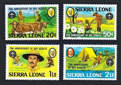 Sierra Leone 75th Anniversary of Boy Scout Movement 4v SG#690/93