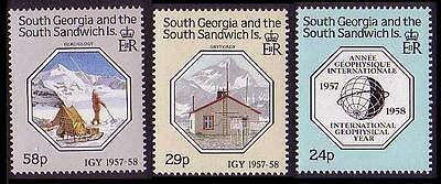 South Georgia International Geophysical Year 3v SG#176/78 SC#124-26
