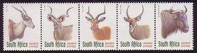South Africa Antelopes strip of 5 SG#1030/34