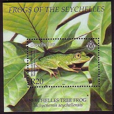 Seychelles WWF Frogs Accompanying Miniature Sheet SG#MS921 MI#Block 44