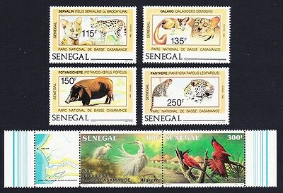 Senegal Wild Animals Birds 4v+strip of 2 SG#910/15 SC#741-746a