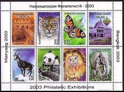 Tajikistan Philatelic Exhibitions Fauna Sheetlet SG#MS235