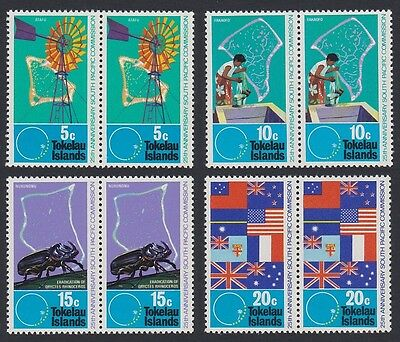 Tokelau 25th Anniversary of South Pacific Commission 4v pairs SG#33/36 SC#33-36