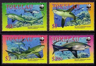 Tokelau WWF Pelagic Thresher 4v SG#336/39 SC#308-11 MI#322-25