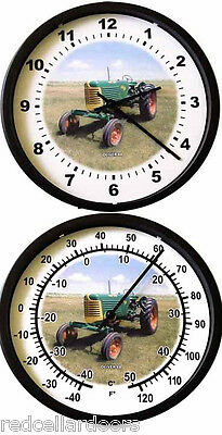 New OLIVER Model 88 Tractor Wall Clock & Thermometer Vintage Tractor Farmer Car