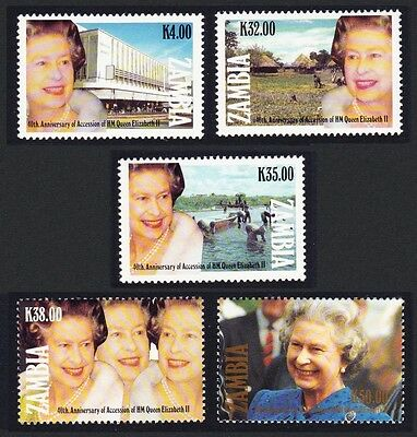 Zambia 40th Anniversary of Queen Elizabeth II's Accession 5v SG#687/91