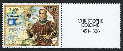 Wallis and Futuna Christopher Columbus 1v with Right Label 'Columbus' SG#605