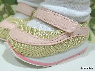 78ccc16083d76 PINK & TAN Mary Jane DOLL SNEAKERS Shoes fits 18