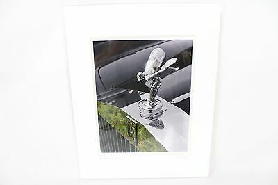 Rolls Royce Vintage Hood Ornament Matted Print Photo Advertising Car Picture