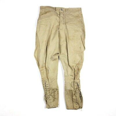 Original Us Army Officers Khaki Canvas Breeches Pants Trousers - W32 L26