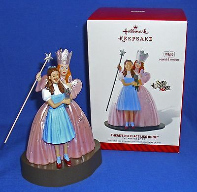 Hallmark Ornament Wizard of Oz There's No Place Like Home 2014 Dorothy Glinda