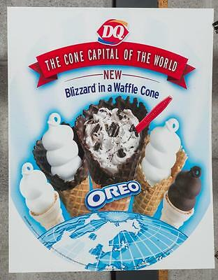 Dairy Queen Promotional Poster Oreo Blizzard Waffle Cone dq2