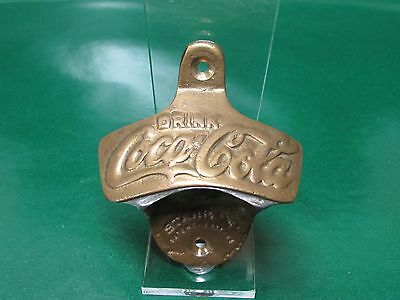 Coca-Cola Brass Bottle Opener Wall Mount Reproduction