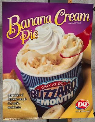 Dairy Queen Promotional Poster Banana Cream Pie Blizzard dq2