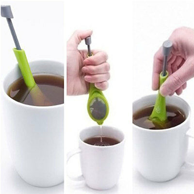 Practical Push-In Designed Silicone Infuser Teapot Tea Filter Strainer Coffee