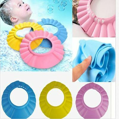 New Soft Baby Shower Cap Bathing Hat Wash Hair Shield